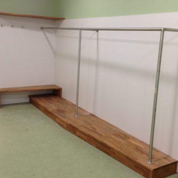 Garderobe für ein Verwaltungsgebäude