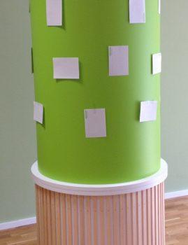 Litfaßsäule aus Topanplatte 10 mm zweiteilig
