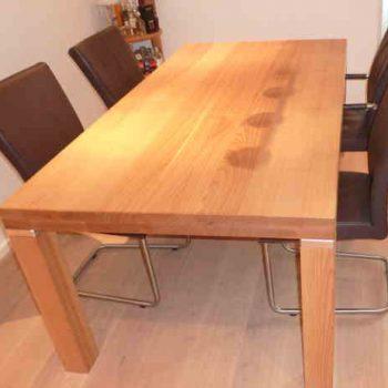 Esszimmertisch Eschenholz aufgedoppelte Tischlatte